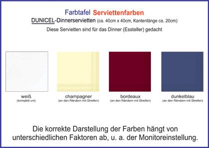 Farbtafel_Dunicel_Dinnerservietten
