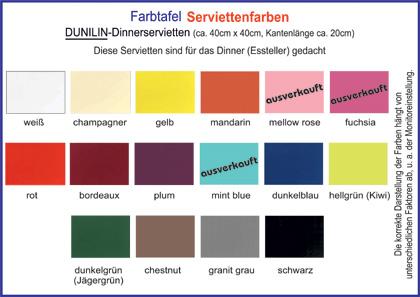 Farbtafel_Dunilin_Dinnerservietten